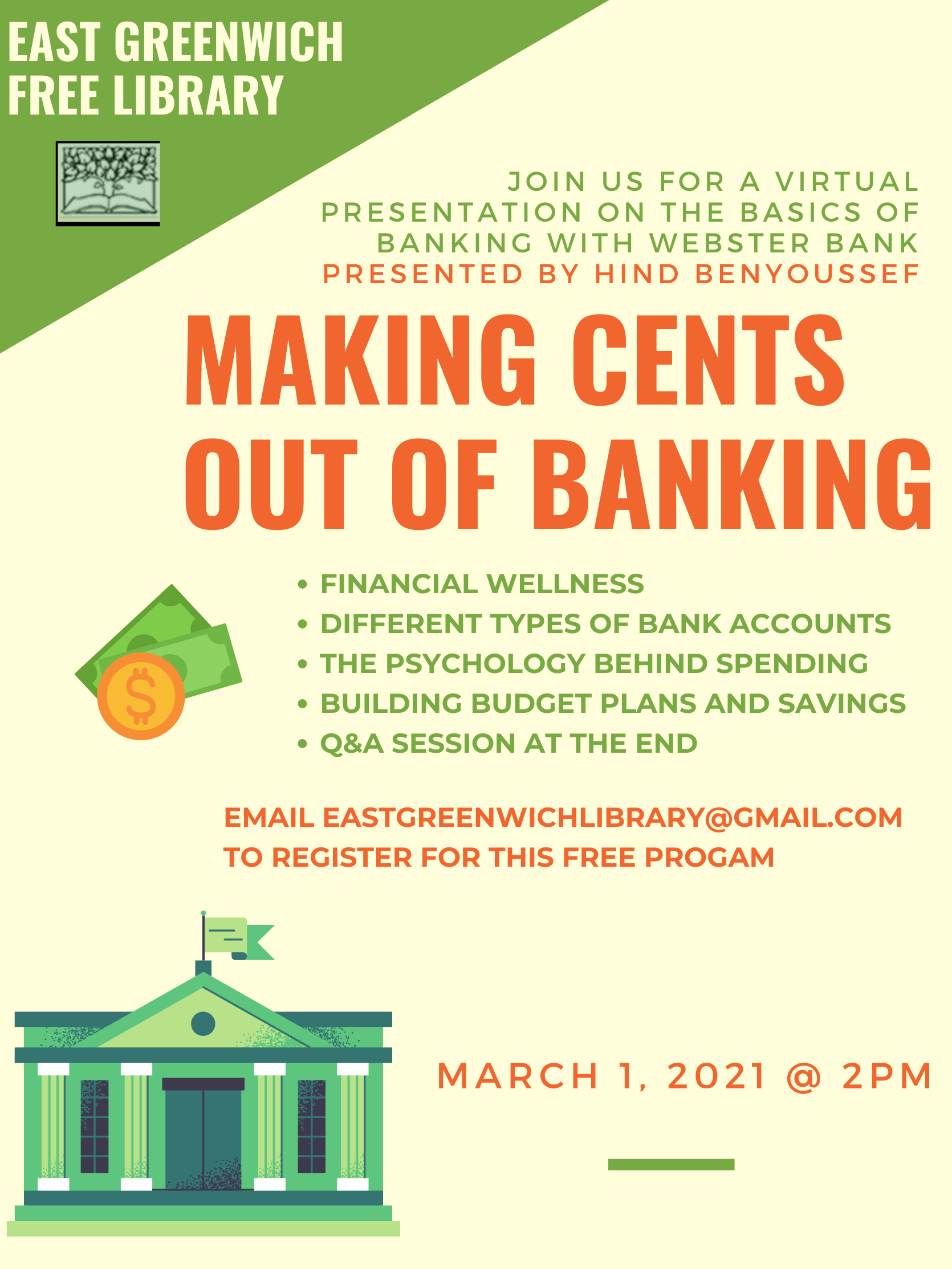 Making Cents out of Banking Flyer